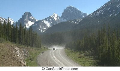 Gravel Road - Car on gravel road in the mountains