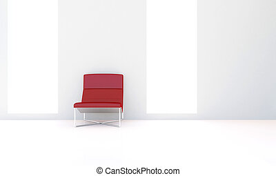 Red seat in interior