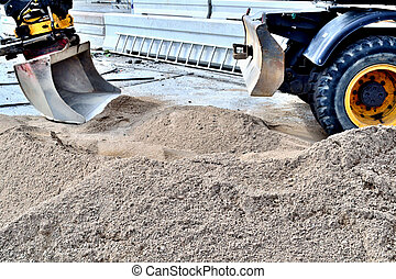 sand and excavator
