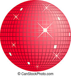 discoball - red disco ball