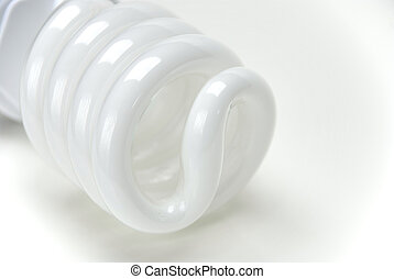 CFL Bulb - CFL bulb on a whitegrey background
