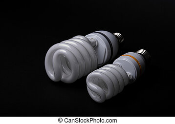 CFL Bulbs - CFL bulbs on a black background