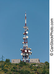antenna in the mountains of Genoa