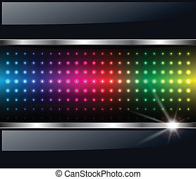 Abstract background, rainbow dots, vector.