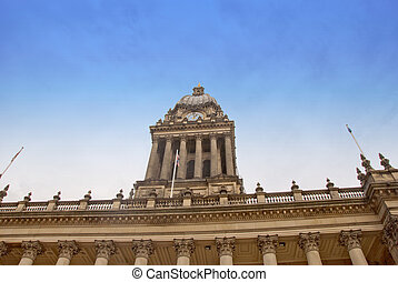 Leeds Town Hall - The Dome and Clocktower of Leeds Town Hall...
