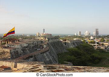 San Felipe de Barajas castle Cartagena de Indias, Colombia -...