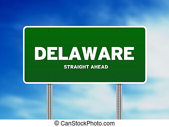 Delaware Highway Sign - High resolution graphic of a...