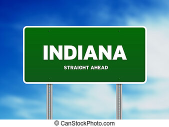 Indiana Highway Sign - High resolution graphic of a indiana...