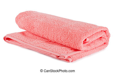 The colour towel isolated on white - The combined colour...