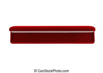 Opened red velvet gift box - Opened bright red velvet gift...
