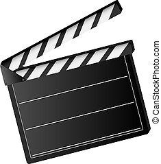 film, battant, planche