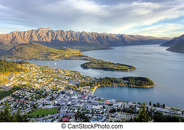 Queenstown Sunset - Light at sunset striking the Remarkables...