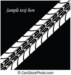 vector background - special tire de