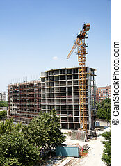 Construction industry and cran. Vertical image
