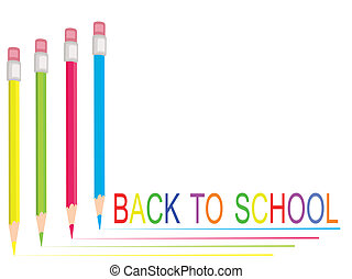 School background with pencils
