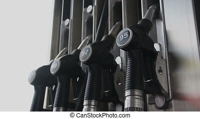 pumps on fuel station
