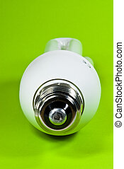 lightbulb on green