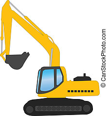 Excavator - vector illustration