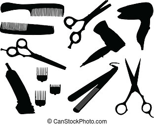 Hair equipment - vector illustration