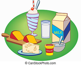 Milk products - This is image a few milk products