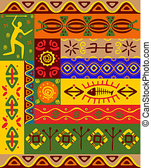 Ethnic patterns and ornaments - Abstract ethnic patterns and...