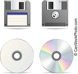 Optical and floppy disc - The optical and floppy disc...