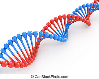 DNA code 3d concept isolated on white