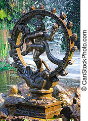 Bronze statue indian goddess Shiva Nataraja - Lord of Dance