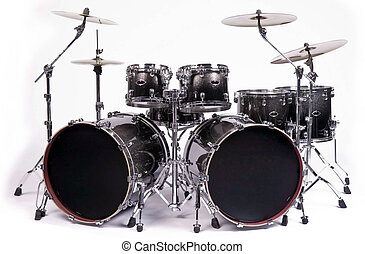 drums kit - Drum kit isolated on white background