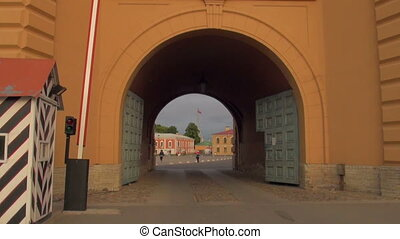 The Arch of the peter and paul fortress