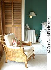 Guest bedroom. - Guest bedroom in a luxury home.