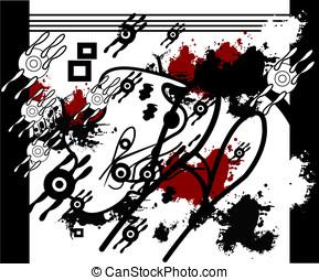 dark music grunge background