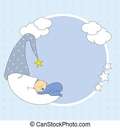 baby boy sleeping on the moon - Baby boy arrival...