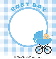 Frame for baby boy - Baby boy  frame for text or photo
