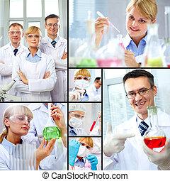 trabajo, científicos