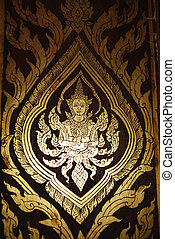 Thai art abtract pattern