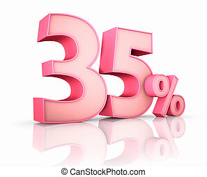 Pink Thirty Five Percent