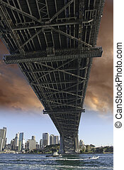 Under the Bridge in Sydney Harbour, Australia