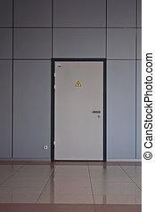 door to utility room in a modern office building