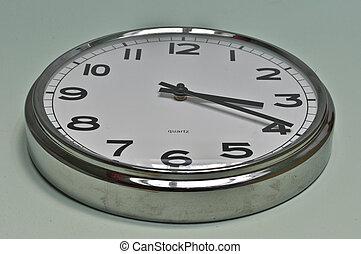 modern clock on the wall