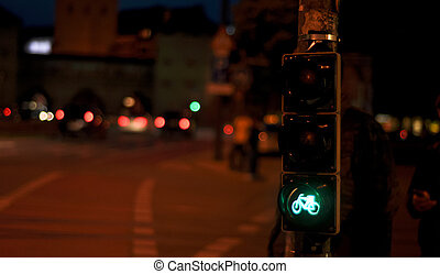traffic lights bicycle