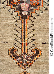 colored wool handmade carpet closeup