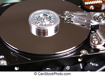 Hard Drive Disc - Close up of hard drive disc