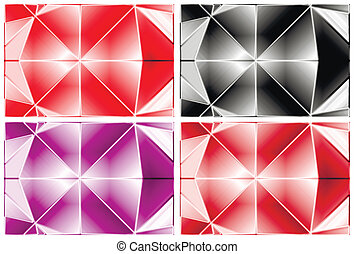 Set of abstract colorful background