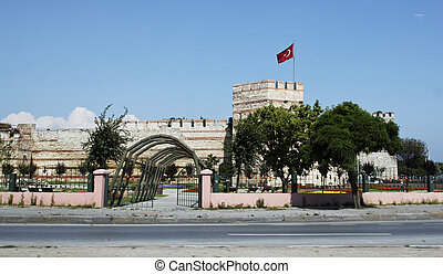 Tower in use of Constantinople - Istanbul - Historical...