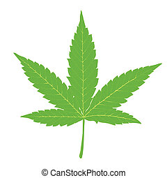 Cannabis leaf. Fully editable by layers, vector (eps8).