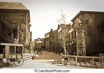 Wild west town - Retro photo of Far west town