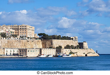 View of Valletta, Malta - View of Valletta from Grand...