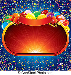 Celebration Poster - Celebration Background, vector template...