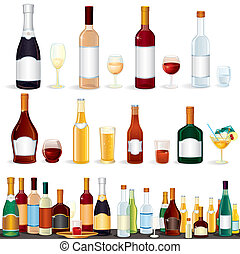 Variety Beverages - Variety popular alcohol Beverages from...